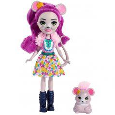 Кукла Enchantimals с лесным питомцем Mayla Mouse Fondue 15 см