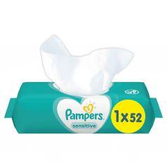 Влажные салфетки Pampers Sensitive детские, 52 шт