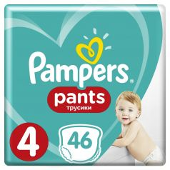 Трусики-подгузники Pampers Pants 4 (9-15 кг) 46 шт.