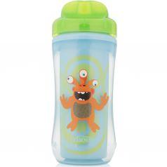 Чашка-термос Dr.Brown's Монстр без носика, с 12 месяцев, цвет: зеленый