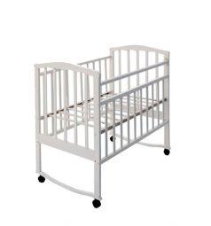Кровать-качалка Агат Золушка 1, цвет: белый