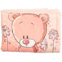 Плед Мимими 70 х 100 см, цвет: розовый/белый