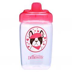 Чашка-поильник Dr.Brown's с твердым носиком Собачка, с 12 месяцев, цвет: розовый