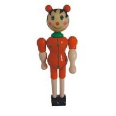 Деревянная кукла Винтик и Шпунтик Божья коровка