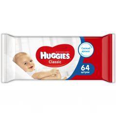 Влажные салфетки Huggies Classic детские, 64 шт