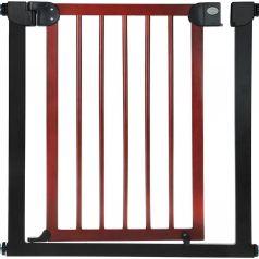 Ворота безопасности Baby Safe для дверного проема, цветчерный металл/натуральное дерево