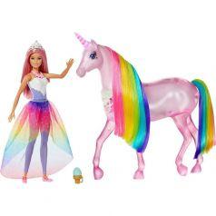 Набор игровой Barbie Кукла и Радужный единорог 29 см