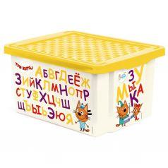 Ящик для хранения Little Angel Три кота, цвет: желтый