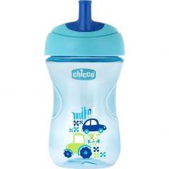 Чашка-поильник Chicco Advanced Cup с трубочкой, с 12 месяцев, цвет: голубой