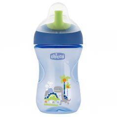 Чашка-поильник Chicco Advanced Cup с трубочкой, с 12 месяцев, цвет: синий
