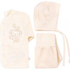 Комплект на выписку Bembi, цвет: молочный кофта/ползунки/чепчик
