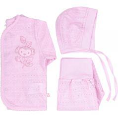 Комплект на выписку Bembi, цвет: розовый кофта/ползунки/чепчик