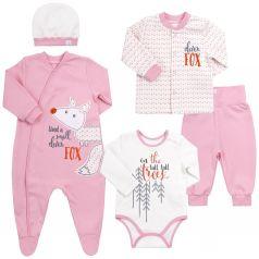 Комплект на выписку Bembi, цвет: розовый 5 предметов