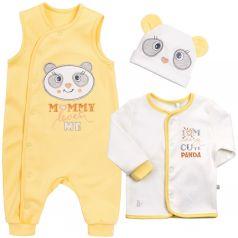 Комплект на выписку Bembi, цвет: желтый/белый кофта/ползунки/шапка