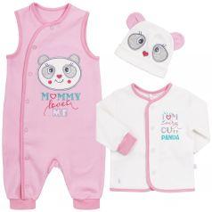 Комплект на выписку Bembi, цвет: розовый/белый кофта/ползунки/шапка