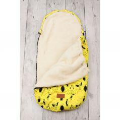 Amarobaby Конверт в коляску Пингвины 105 х 45 см, цвет: желтый