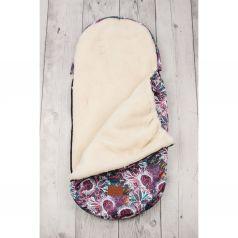 Amarobaby Конверт в коляску Орнамент 105 х 45 см, цвет: белый/фиолетовый
