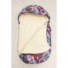 Amarobaby Конверт в коляску Фантазия 80 х 45 см, цвет: белый/фиолетовый