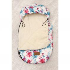 Amarobaby Конверт в коляску Цветы 80 х 45 см, цвет: белый/розовый