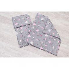 Комплект в коляску Amarobaby Мечта 3 предмета подушка 40 х 30 см, цвет: серый/розовый