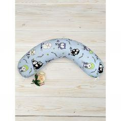Подушка для беременных Amarobaby Совы 170 х 25 см, цвет: мультиколор