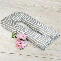 Подушка для беременных Amarobaby Радуга 340 х 35 см, цвет: серый/белый