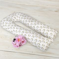 Подушка для беременных Amarobaby Пингвины 340 х 35 см, цвет: белый