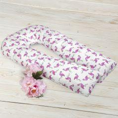 Подушка для беременных Amarobaby Фламинго 340 х 35 см, цвет: белый/розовый