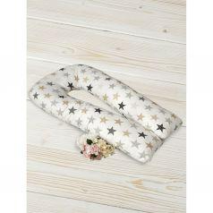 Подушка для беременных Amarobaby Звезды 340 х 35 см, цвет: белый
