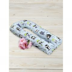 Подушка для беременных Amarobaby Совы 340 х 35 см, цвет: мультиколор