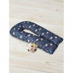 Подушка для беременных Amarobaby Лисички 340 х 35 см, цвет: синий