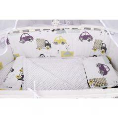 Бортик в кроватку Amarobaby Город, цвет: зеленый 4 шт подходит для кроваток с периметром стенок до 360 см