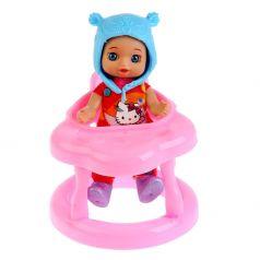 Кукла Карапуз Hello Kitty С ходунками и аксессуарами в оранжевом 12 см