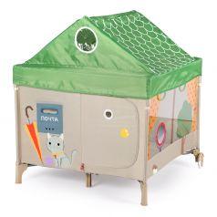 Манеж Happy Baby Alex Home с лампой, цвет: зеленый