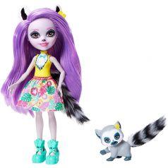 Кукла Enchantimals со зверюшкой Larissa Lemur & Ringlet 15 см