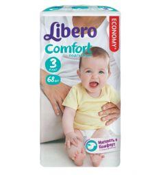 Подгузники Libero Comfort для девочек (4-9 кг) 68 шт.