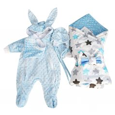 Комплект на выписку Slingme, цвет: голубой 5 предметов