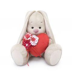 Мягкая игрушка Budi Basa Город Зайка Ми с красным сердечком 18 см