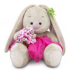 Мягкая игрушка Budi Basa Малыши Зайка Ми c букетом в розовой юбке 15 см