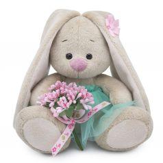 Мягкая игрушка Budi Basa Малыши Зайка Ми c букетом в изумрудной юбке 15 см