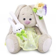 Мягкая игрушка Budi Basa Малыши Зайка Ми с зайчиком и нарядным цветком 15 см