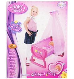 Мебель для куклы Игруша Кроватка 46 см