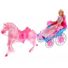 "Карапуз, Карапуз, Кукла ""София Принцесса""с лошадью и каретой, с аксесс., 29см"