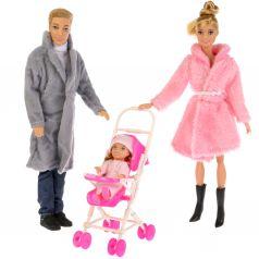 Кукла Карапуз «София» с семьей 31x9x34
