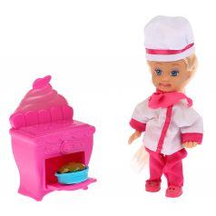 "Карапуз, Карапуз, Кукла ""Машенька"" с аксессуарами (кухонная плита, костюм повара), 12см."