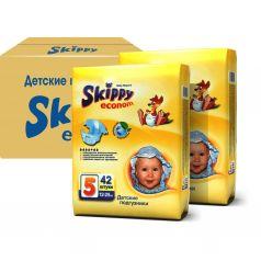 Подгузники Skippy Econom р. 5 (12-25 кг) 2х42 шт.
