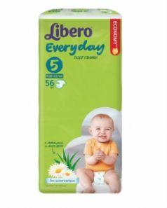 Подгузники Libero Everyday Size 5 (11-25 кг) 56 шт.