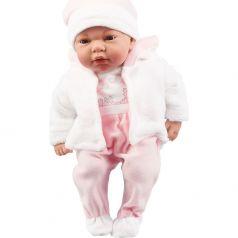 Пупс Arias Elegance в одежде в розовых тонах, с соской 38 см