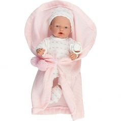 Пупс Arias Elegance в розовой одежде, в коверте, с соской 28 см