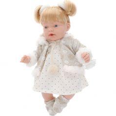 Кукла Arias Elegance с хвостиками, в платьице в мелкий горошек 28 см